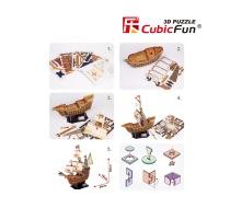 3D puzzle lodě Santa Maria - díly
