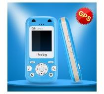 Dětský mobilní telefon ibaby Q9G - modrá barva 2